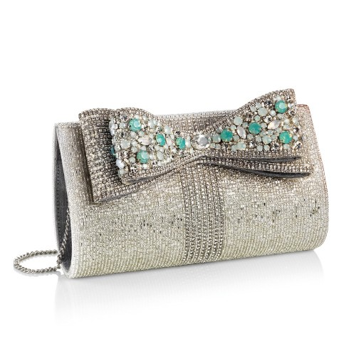 CLUTCH CON CRISTALLI, PERLINE E STRASS
