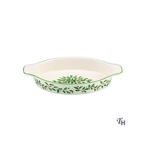 Lenox Christmas Holiday Oval Baker