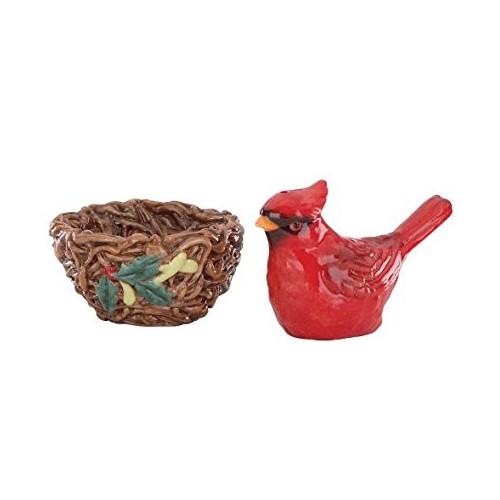 Lenox Winter Greetings Nesting Cardinal Salt and Pepper Set