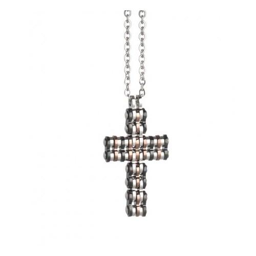 Collana con croce pendente Boccadamo