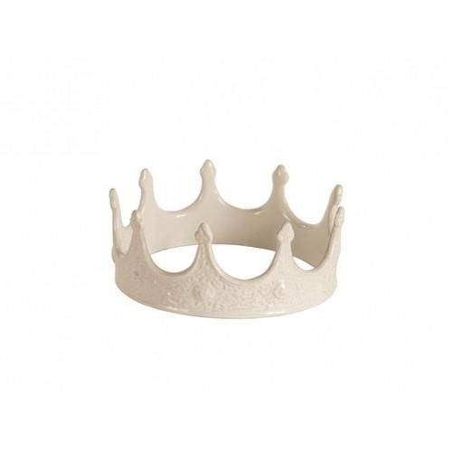 Corona in porcellana bianca Seletti